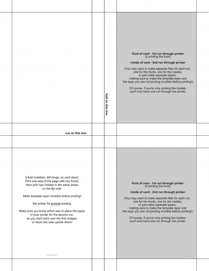 Label Template 4 Per Sheet