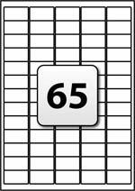 Label Template 65 Per Sheet