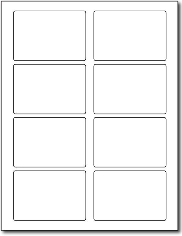 4 per sheet label template] 100 images self adhesive labels