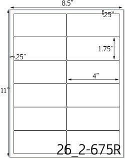 Printable Label Template 8 Per Sheet
