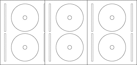 Free blank label template download: WL 325 round label template in