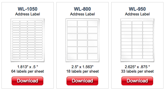 Label Template Pages for Mac