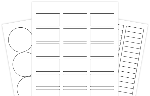Hershey nuggets template for custom labels