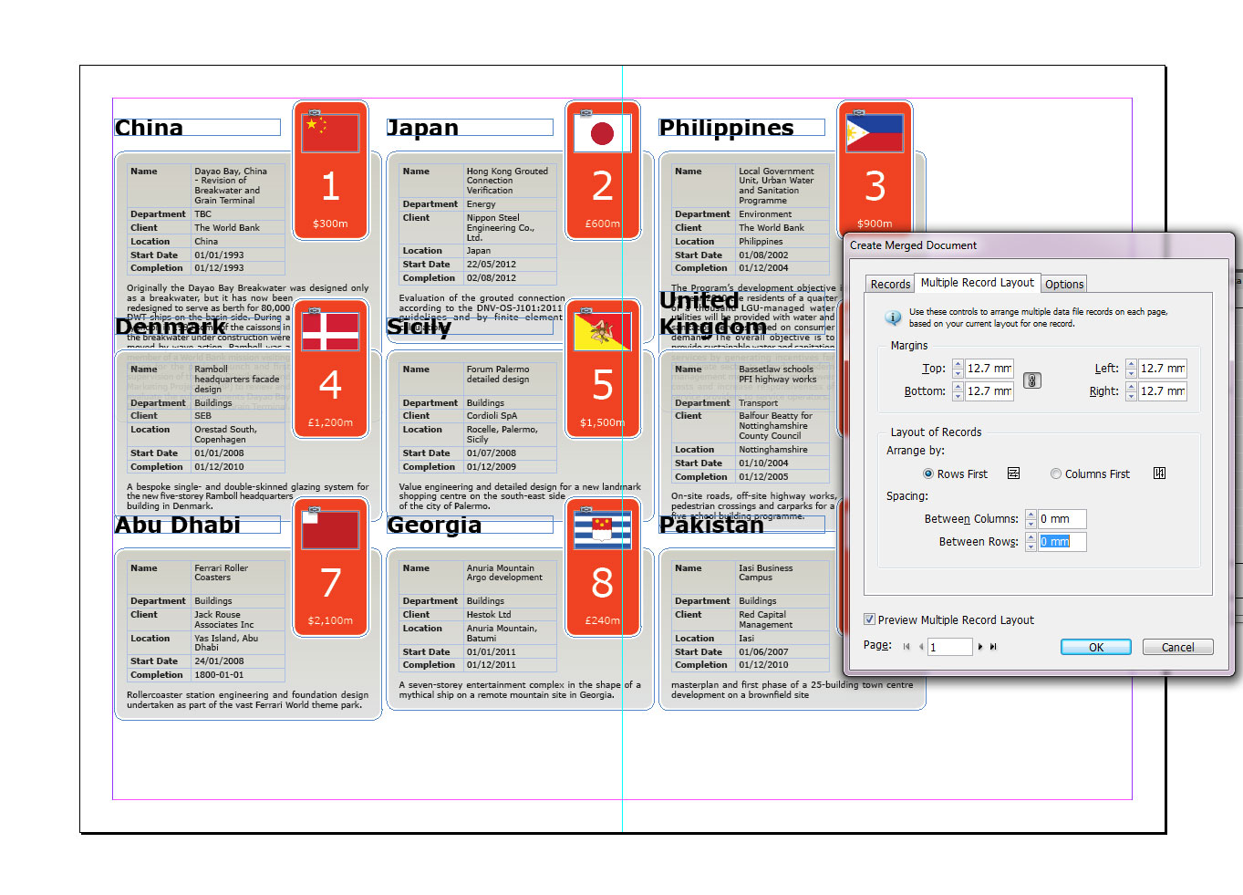 Making Mailing Labels in InDesign
