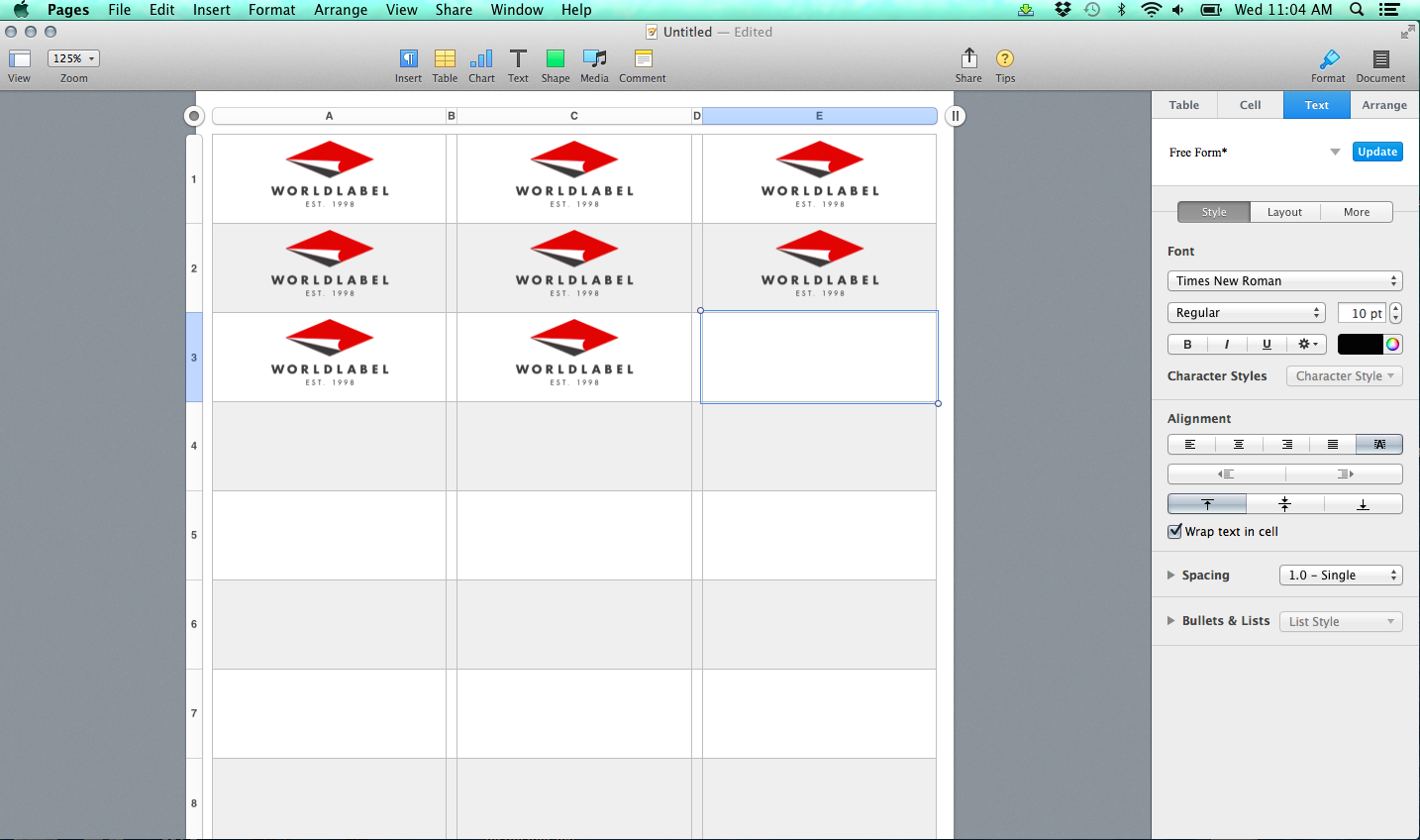 Label Templates for Pages for a Mac Released   Worldlabel Blog