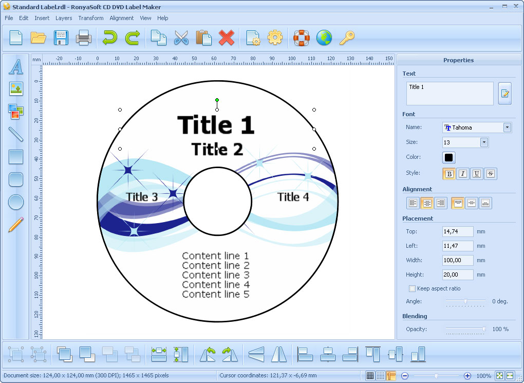 CD DVD Label Template Maker