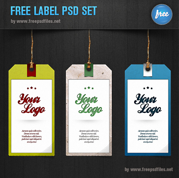 Label Template Psd