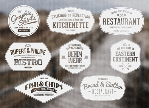 Label templates vector » Photoshop Tools