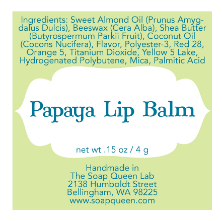 Custom Product Labels for Lip Balm