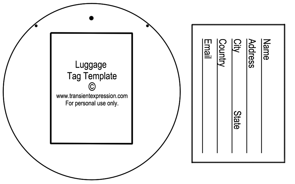 Luggage Luggage Tag Template Clipart