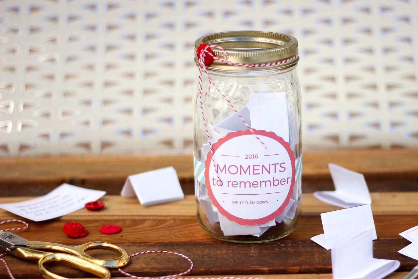 Happy Things Memory Jar 2015 | Happy things, Labels free and Jar