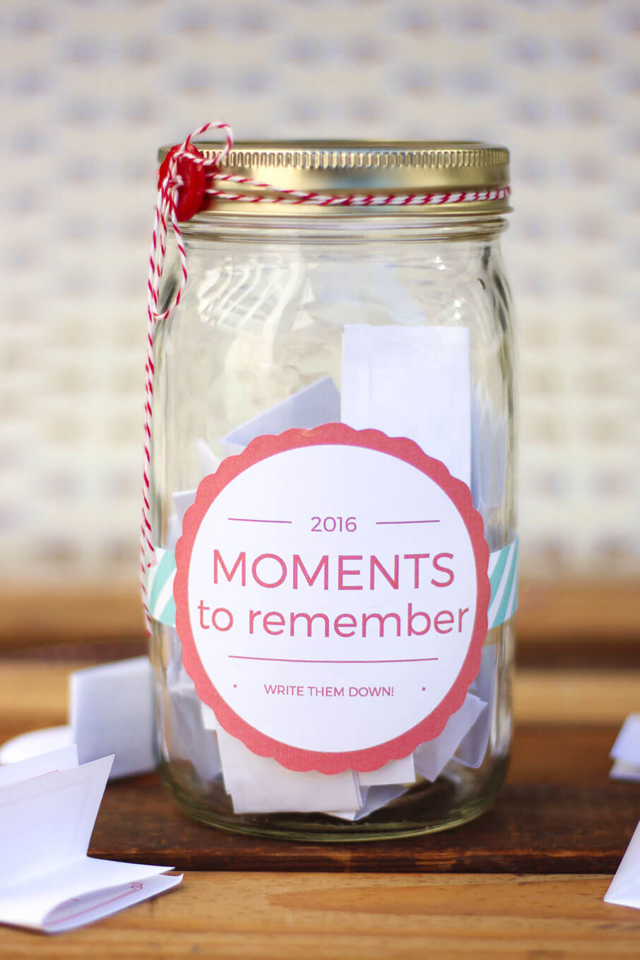 Memory Jar Printable Label