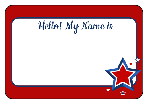 Name Label Template Word