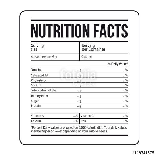 Nutrition Facts Template   doliquid