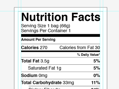 Printable Nutrition Label Template Excel