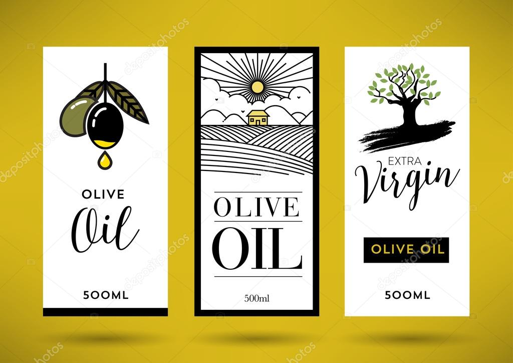 Olive Oil Label Template — Stock Vector © kursatunsal #99390054