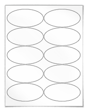 Printable Oval Label Template