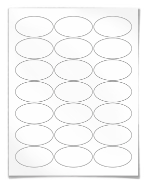 Blank Printable Oval Label Template