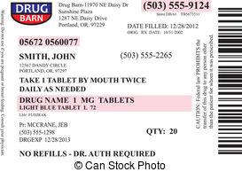 Printable Prescription Label Template
