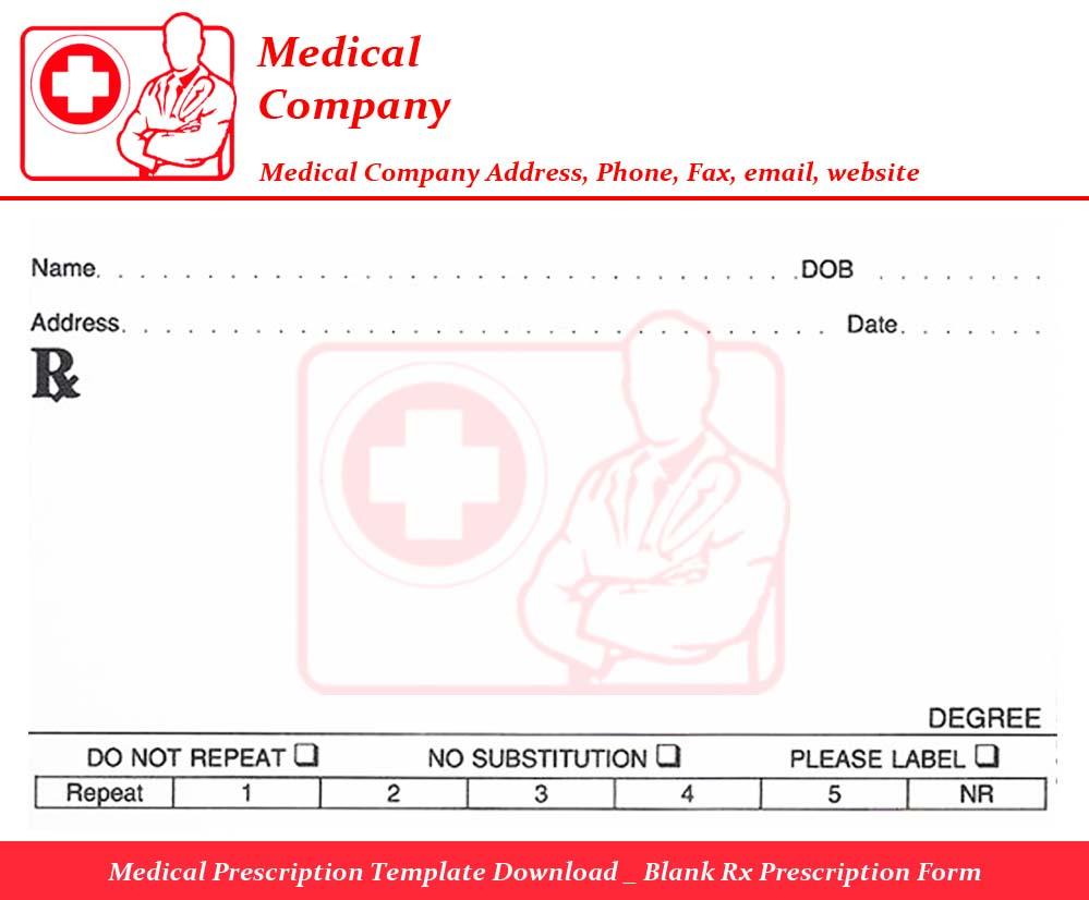 Medical Prescription Template Free Download | ninareads.com