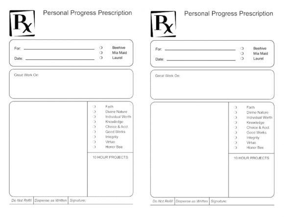 Prescription Bottle Label Template Printable