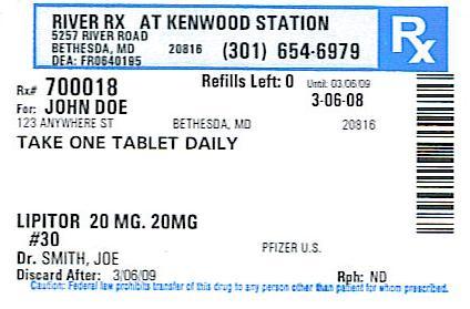 Prescription Label Template Download
