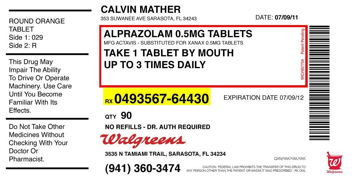 Prescription Label Template   Template Design