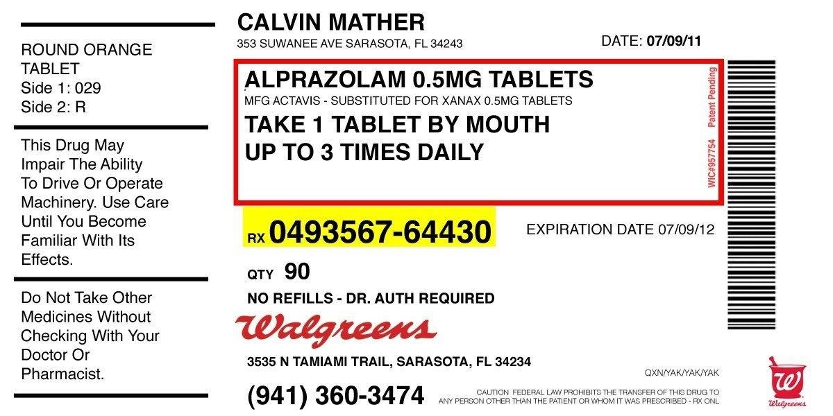 Prescription Label Template Printable