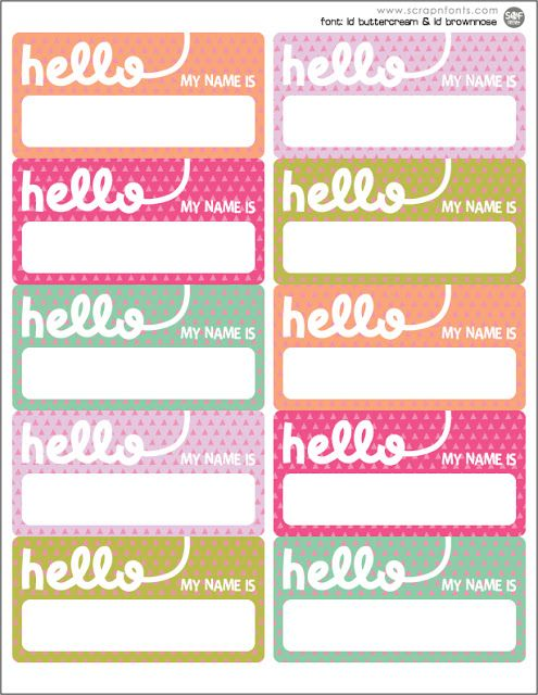 Printable Name Label
