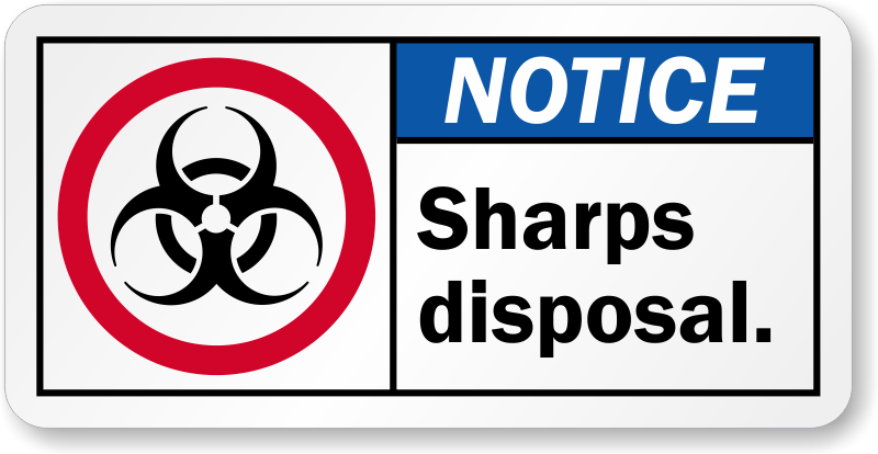 Printable Sharps Container Label