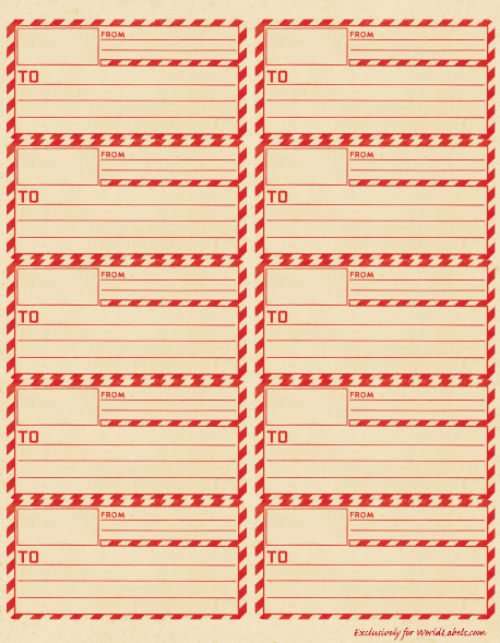 Printable Shipping Label