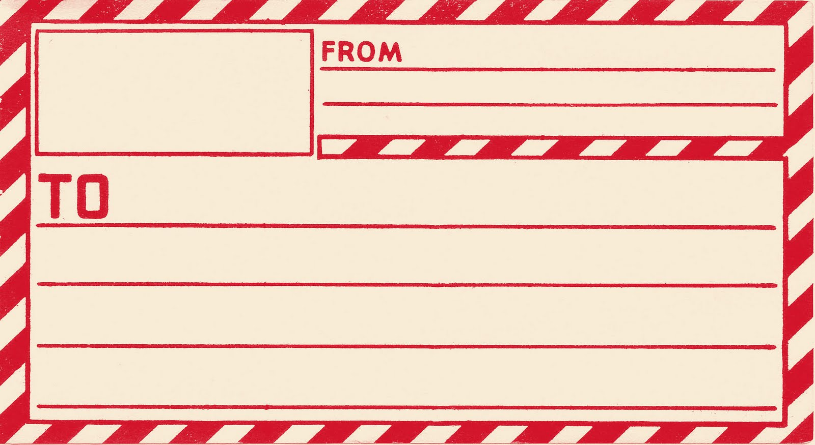 Vintage Gummed Parcel Printable Shipping Label