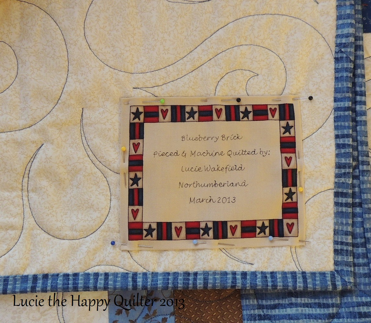 How to make Quilt Label YouTube