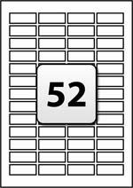 52 labels per sheet template] 100 images 3 april 2014 template