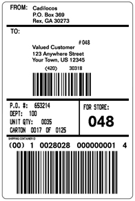 Free Shipping Label Template | Formal Word Templates