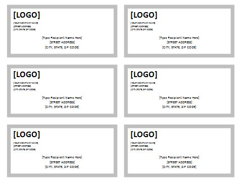 USPS Shipping Label Template