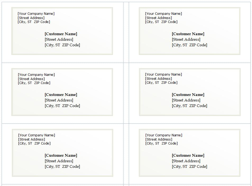Basic Shipping Label Template Image For Product Or Goods Shipment