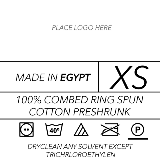 T Shirt Label Template
