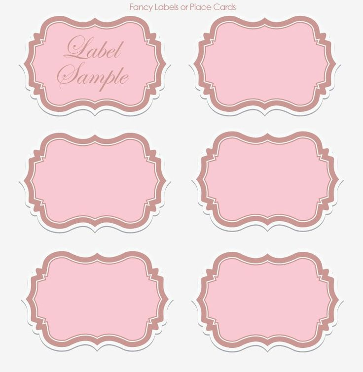 Printable Table Label Template