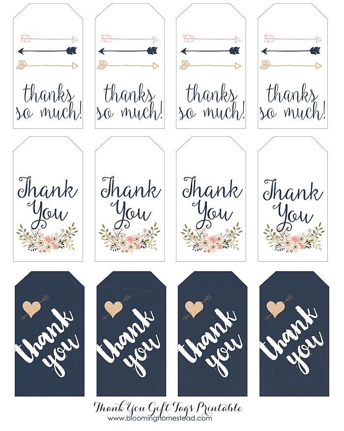 Unique Thank You Label Template