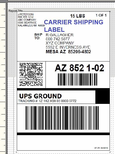Ups Label Template Free