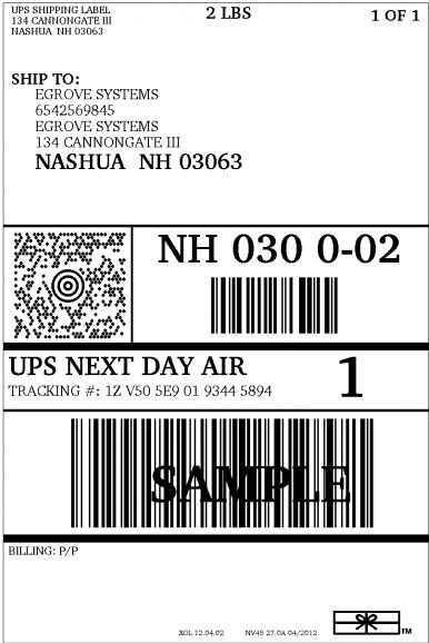 Ups Shipping Label Template | Template Design