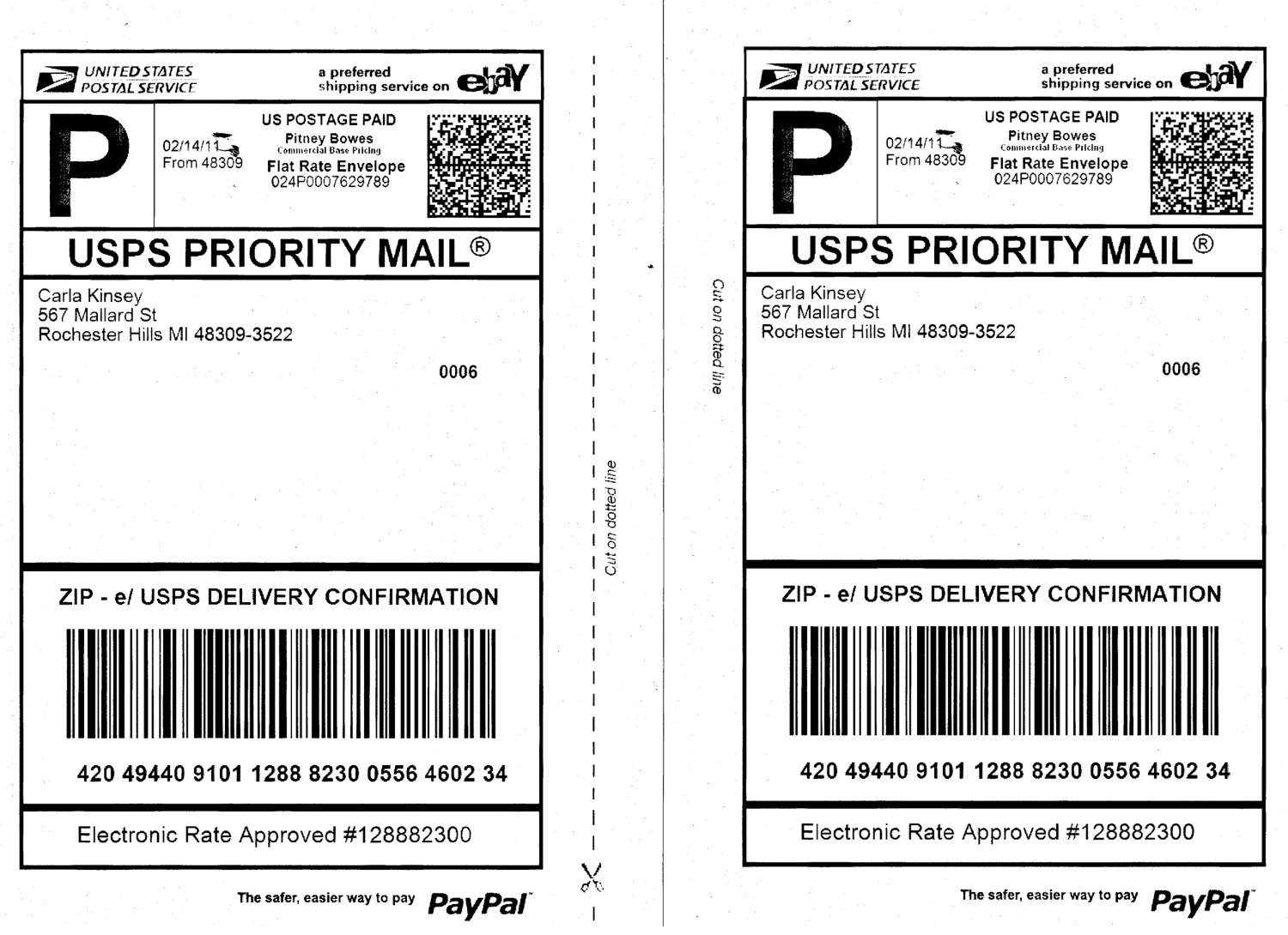 Usps Shipping Label Template | Template Design