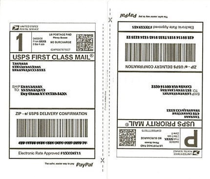 25 Sheets SHIPPING Labels 50 Half Page Shipping Labels for