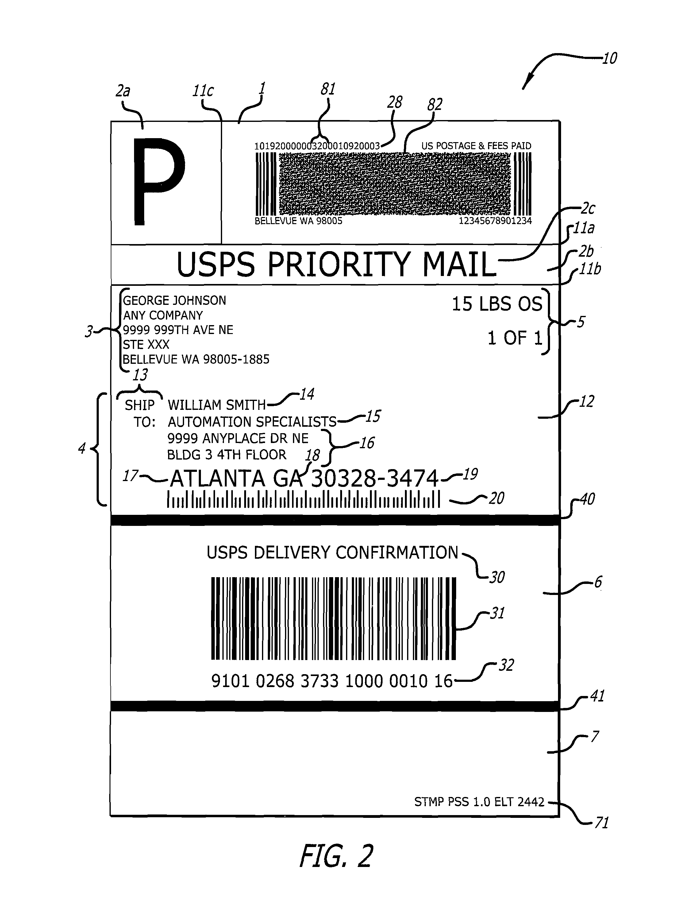 shipping label Google Patents