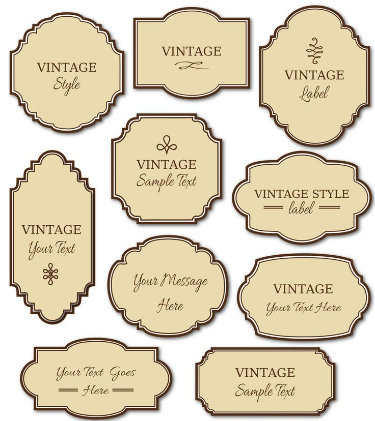 Vintage Label Template Pack